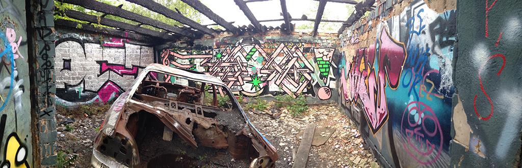 Abandoned train depot Berlin